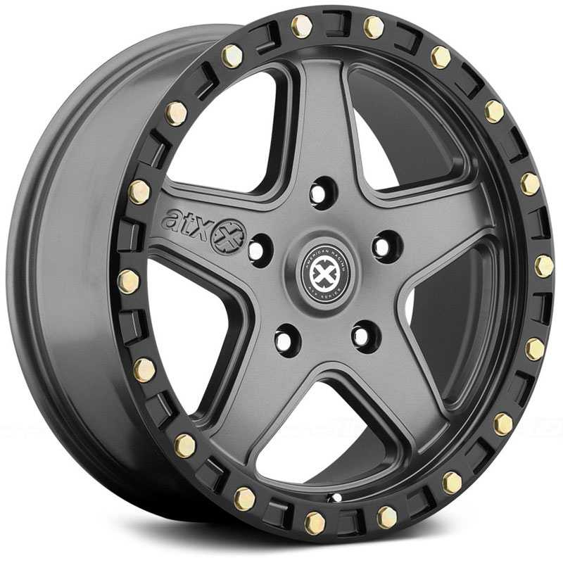 ATX Series AX194 Ravine  Wheels Matte Gray W/ Black Ring