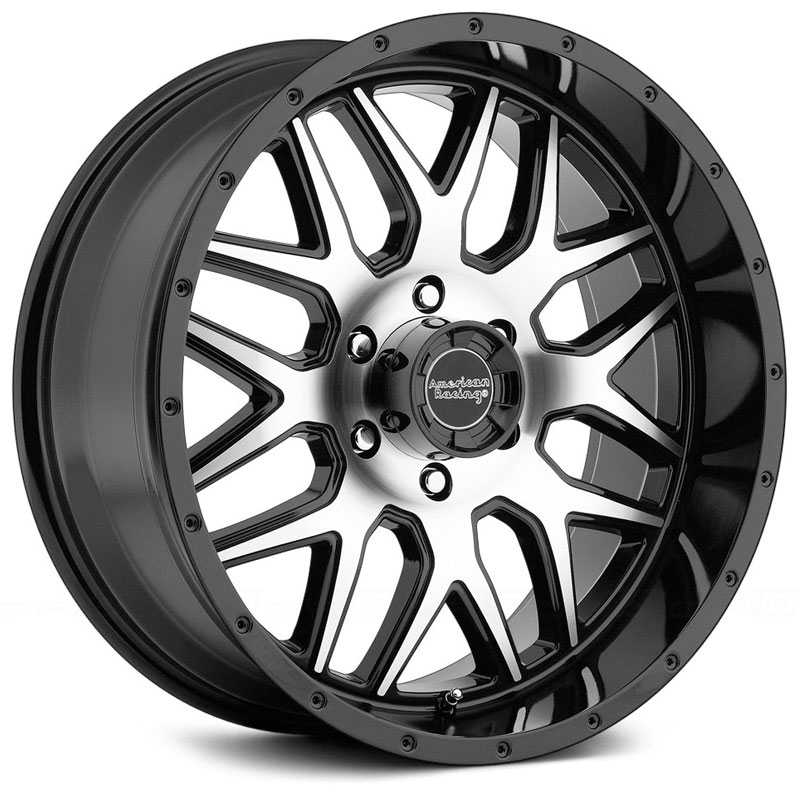 American Racing AR910  Wheels Gloss Black W/ Machined Face