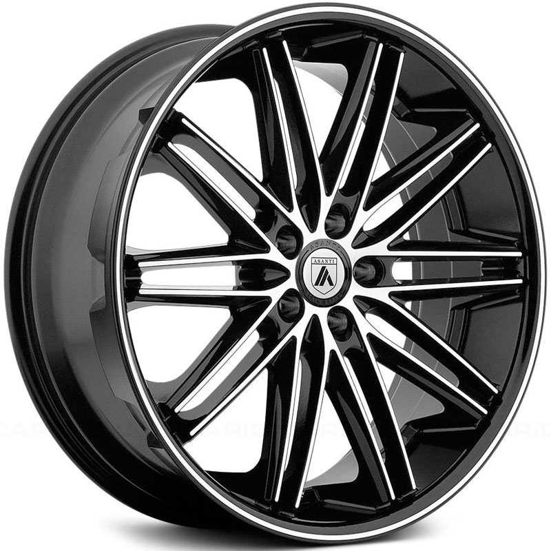 Asanti Black Label ABL-10  Wheels Machined Face W/ Black Lip