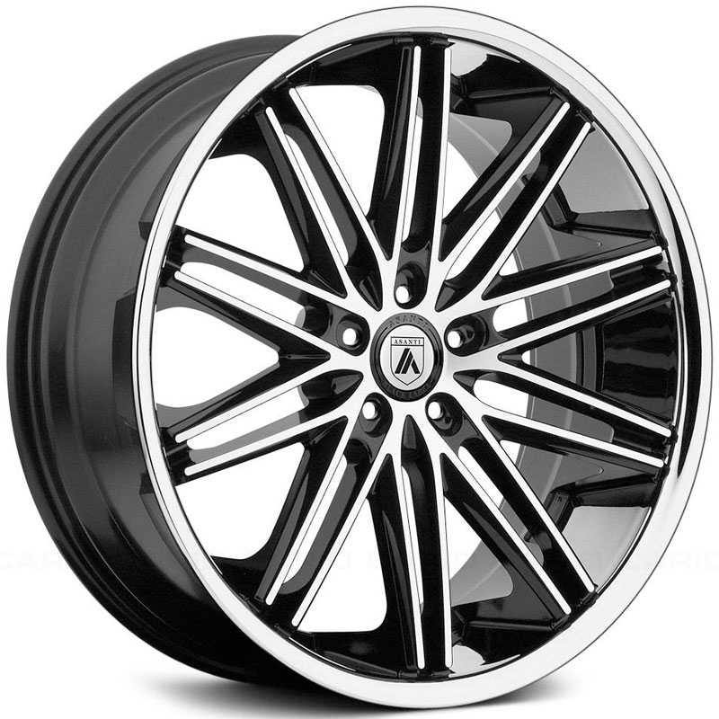 Asanti Black Label ABL-10  Wheels Machined Face W/ SS Lip