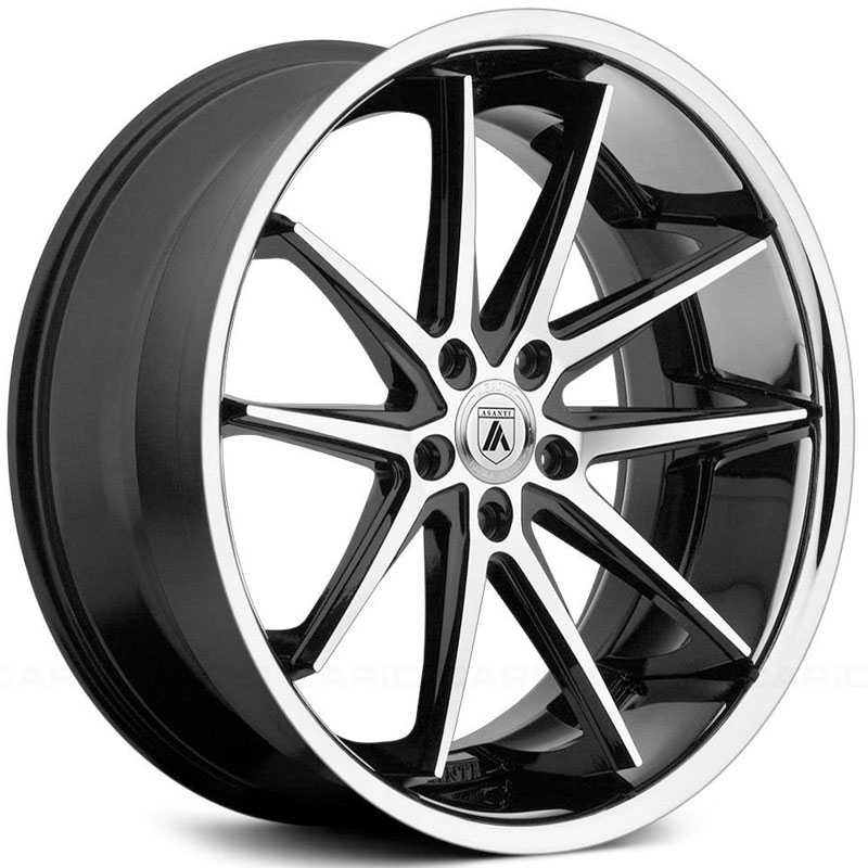 Asanti Black Label ABL-5  Wheels Machined Face W/ SS Lip