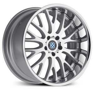 Beyern Munich  Wheels Silver w/ Machined Face & Chrome Lip