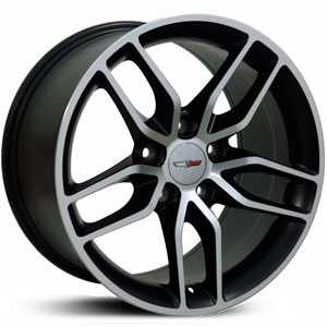 Corvette Stingray Style (CV18)  Wheels Machined Black