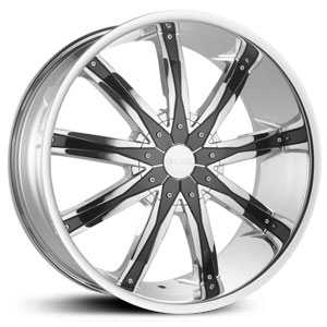 Dcenti DW29  Wheels Chrome w/ Black Inserts