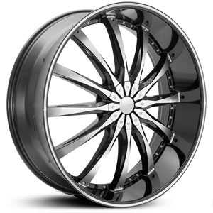 Dcenti DW8  Wheels Black Machined Milled Lip