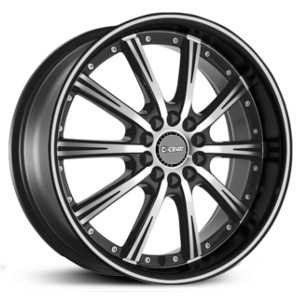 Dcenti DW906  Wheels Machined Black Milled Lip