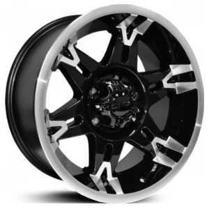 Dcenti DW902  Wheels Black w/ Machined Lip
