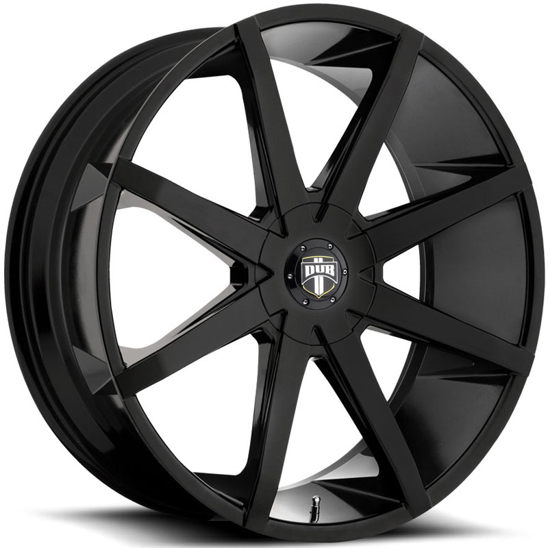 Dub Push S110  Wheels Black Gloss