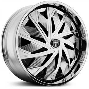 Dub Spazz Spinner S728  Wheels Chrome