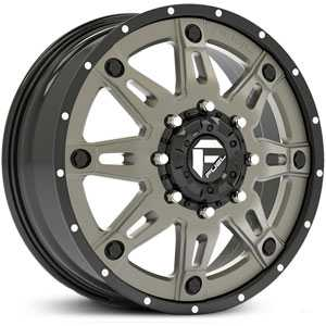 Fuel D232 Hostage Dually  Wheels Gunmetal Matte (Front)