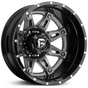 Fuel D232 Hostage Dually  Wheels Gunmetal Matte (Rear)