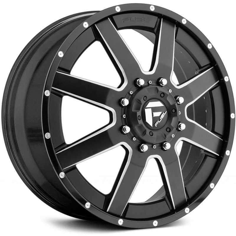 Fuel D262 Maverick Dually  Wheels Black Milled (Front)