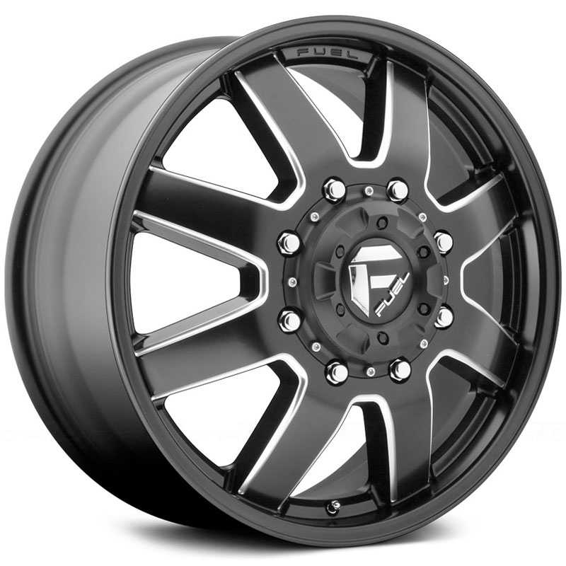 Fuel D538 Maverick Dually  Wheels Matte Black Milled (Front)