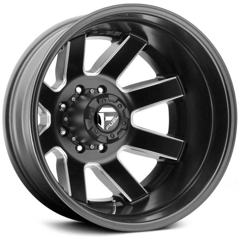 D538 Maverick Dually Matte Black Milled (Rear)