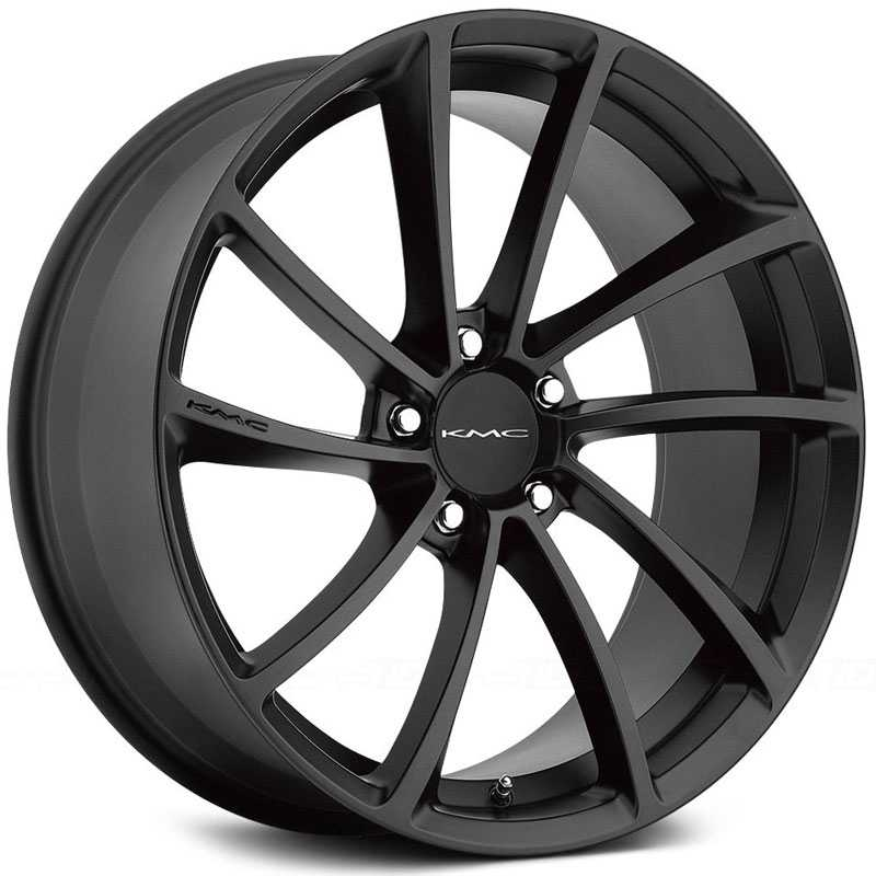 KMC KM691 Spin  Wheels Satin Black