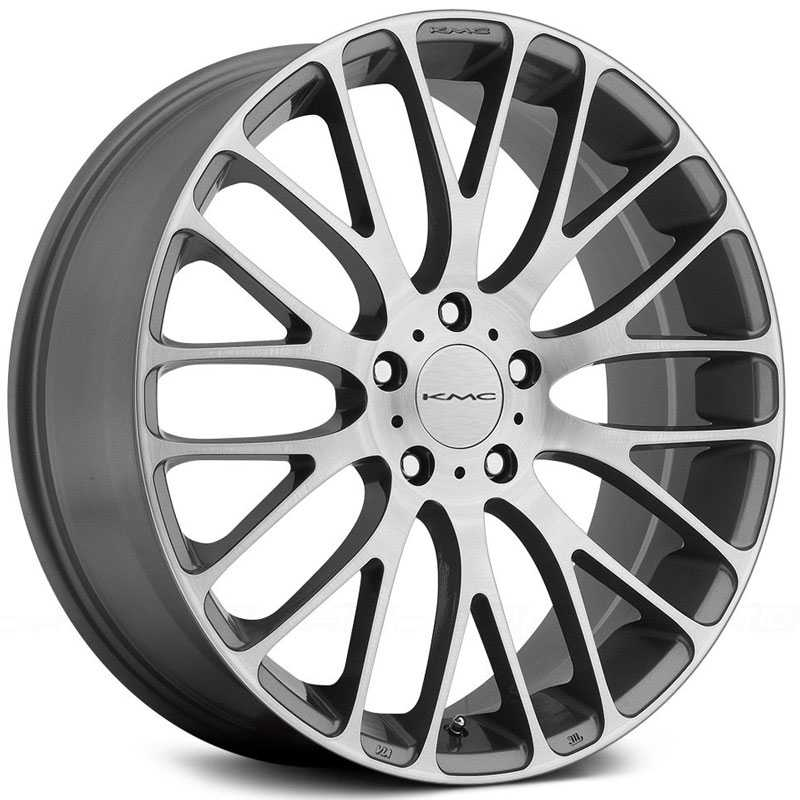 KMC KM693 Maze  Wheels Pearl Gray W/ Brushed Face