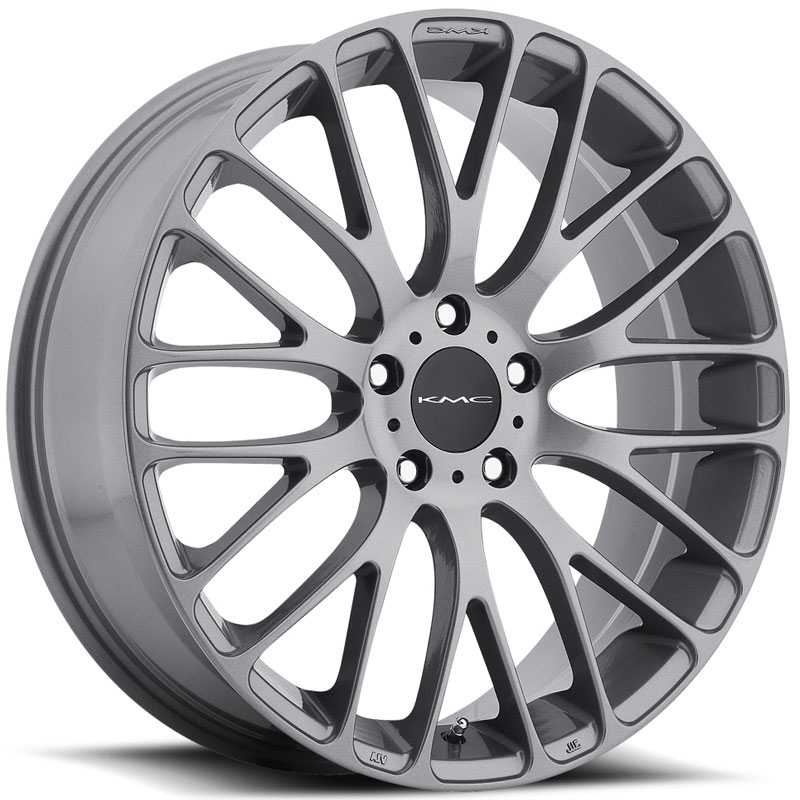 KMC KM693 Maze  Wheels Satin Black W/ Machined Face And Tinted Clear