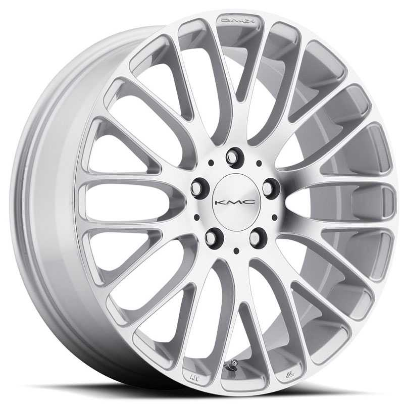 KMC KM693 Maze  Wheels Silver W/ Machined Face
