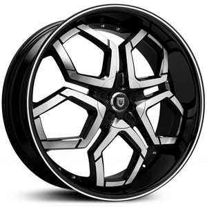 Lexani Hydra Covered Cap  Wheels Machined Black