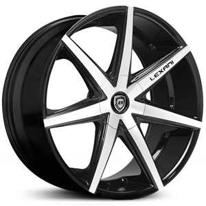 Lexani R-7 SEVEN  Wheels Machined Black