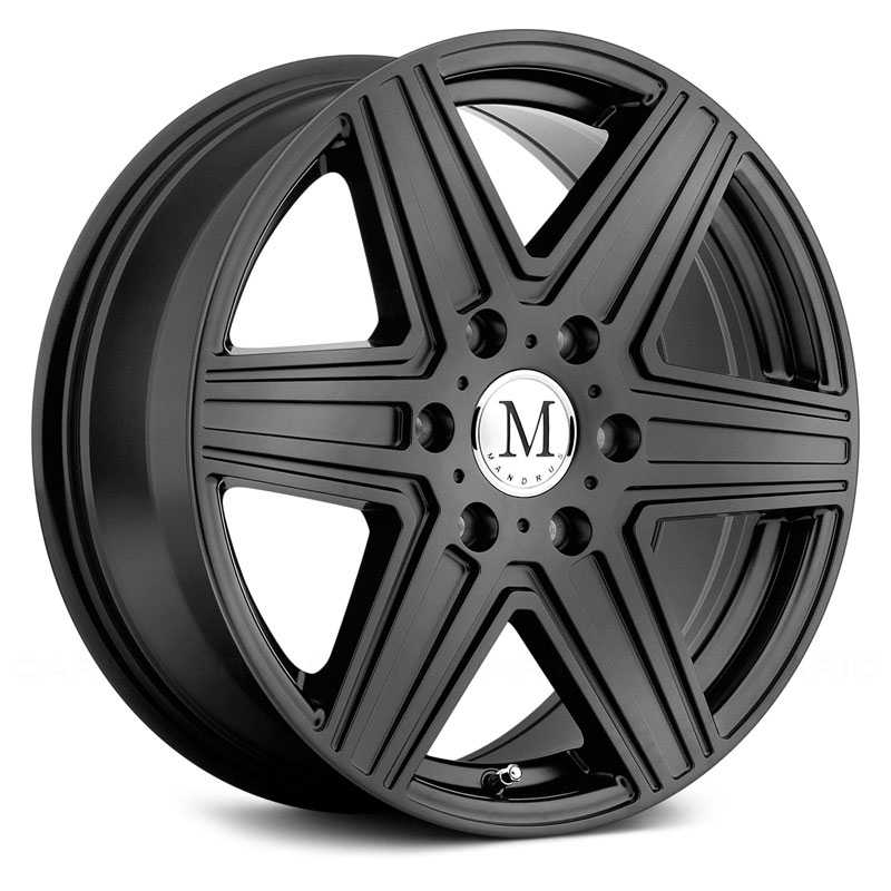 Mandrus Atlas  Wheels Matte Black 6 Lug
