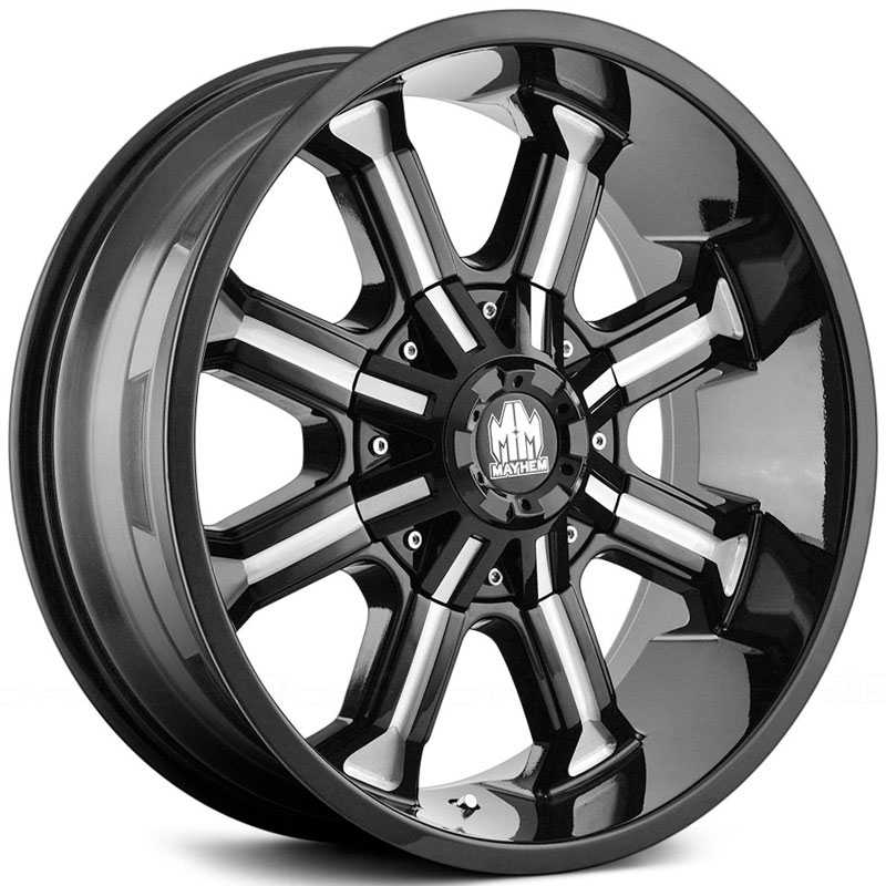 17x9 Mayhem Beast 8102 Black/ Milled Spokes REV