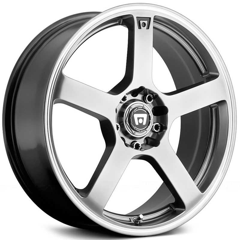 Motegi Racing MR116  Wheels Dark Silver W/ Machined Flange