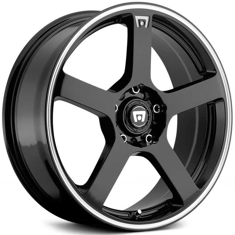 Motegi Racing MR116  Wheels Gloss Black W/ Machined Flange