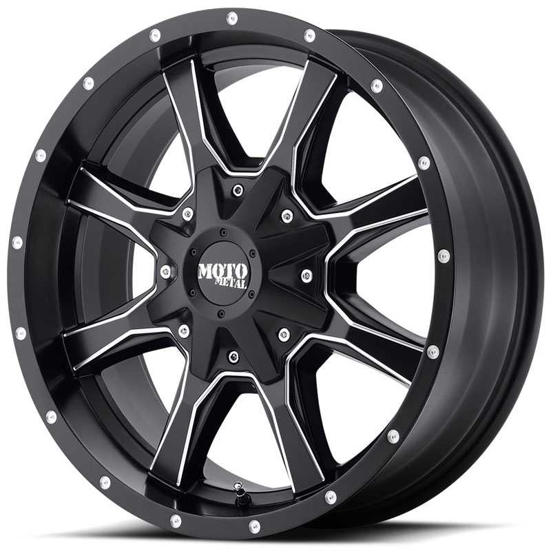 Moto Metal MO970  Wheels Satin Black W/ Milled Spokes
