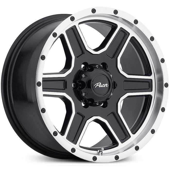 Pacer 165MB Navigator  Wheels Gloss Black w/ Diamond Cut Accents & Clear-Coat