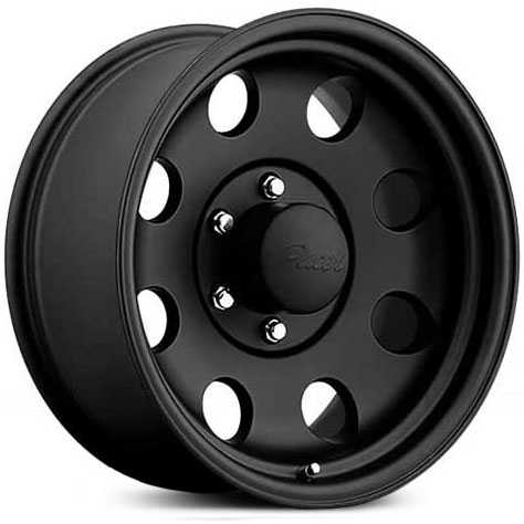 Pacer 365B Black V-5  Wheels Black Powder Coat Finish