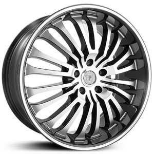 Phino PW108  Wheels Machined Face & Lip Stripe