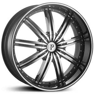Phino PW118  Wheels Machined Face & Lip Stripe