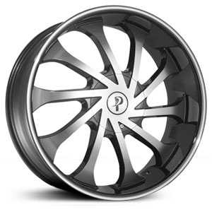 Phino PW138  Wheels Machined Face & Lip Stripe
