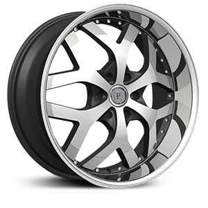 Phino PW148B  Wheels Machined Face & Lip Stripe