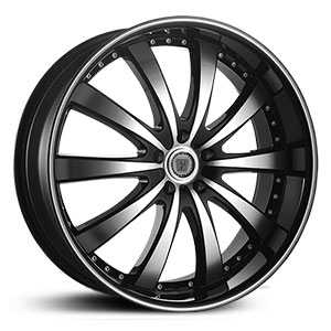 Phino PW168A  Wheels Machined Face & Lip Stripe