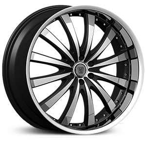 Phino PW168B  Wheels Machined Face & Lip Stripe