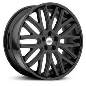 Redbourne Hampshire  Wheels Matte Black w/ Gloss Black Lip