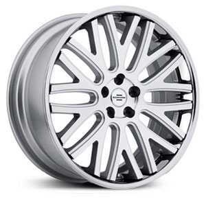 Redbourne Hampshire  Wheels Silver w/ Machined Face & Chrome Lip