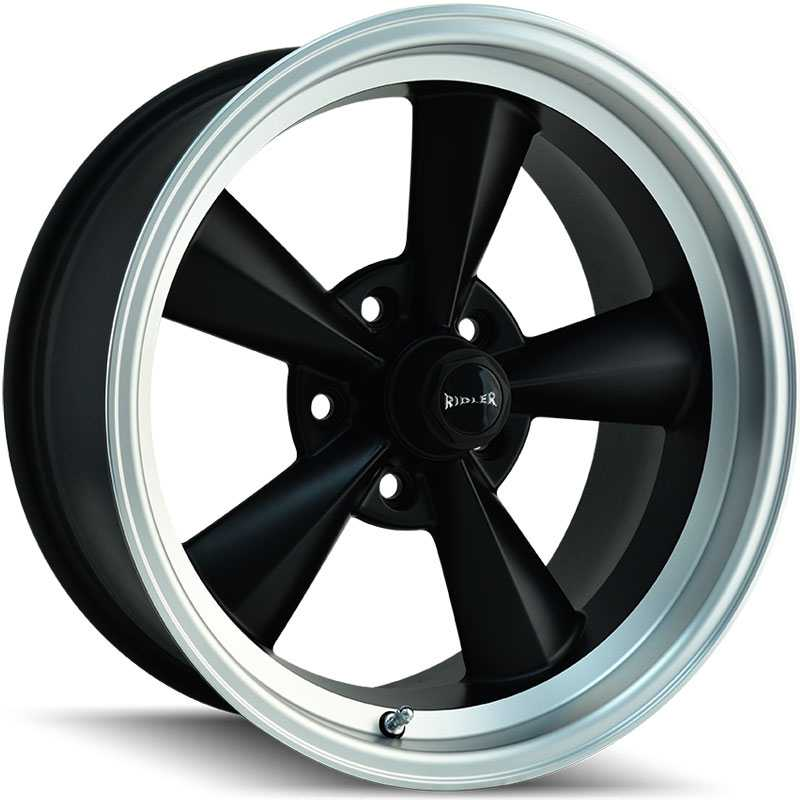 Ridler 675  Wheels Matte Black w/ Machined Lip