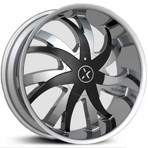 RockNStarr 964 Poison  Wheels Chrome w/ Black Inserts