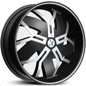 RockNStarr 965 Floyd  Wheels Black w/ Chrome Inserts