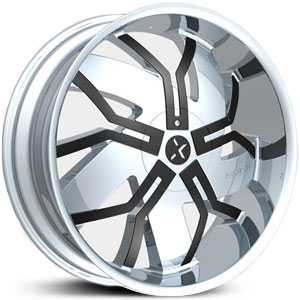 RockNStarr 965 Floyd  Wheels Chrome w/ Black Inserts