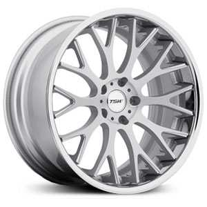 18X10.5 TSW Amaroo Silver w/ Brushed Face & Chrome  Lip MID