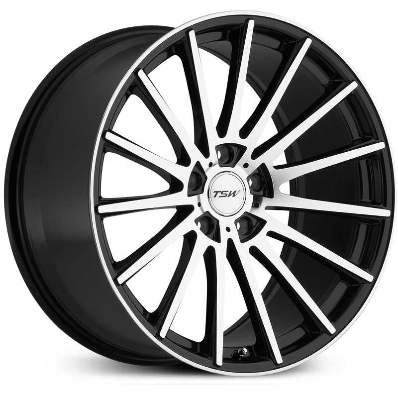 TSW Chicane  Wheels Gloss Black w/ Mirror Cut Face