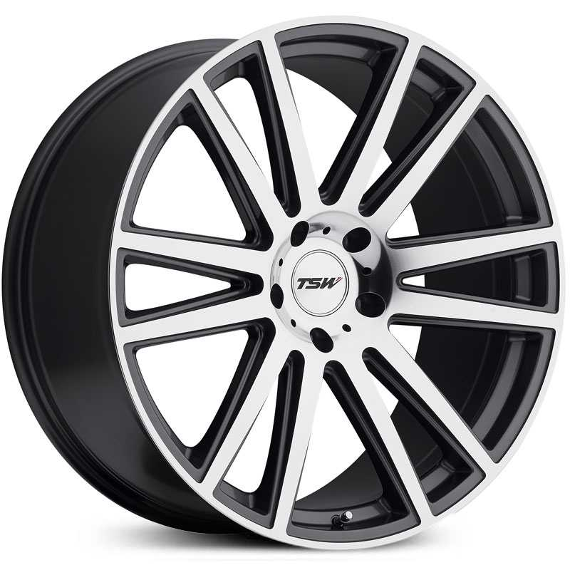 TSW Gatsby  Wheels  Gunmetal W/Mirror Cut Face