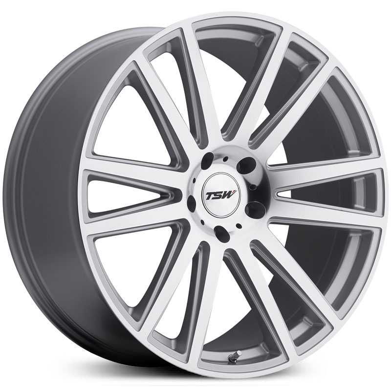 TSW Gatsby  Wheels Silver W/Mirror Cut Face