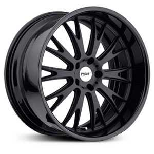 TSW Monaco  Wheels Matte Black W/ Gloss Black Lip