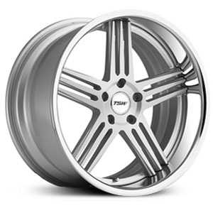 TSW Nouvelle  Wheels Silver w/ Brushed Face & Chrome Stainless Lip