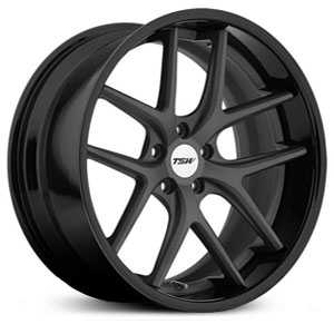 TSW Portier  Wheels Matte Gunmetal W/ Gloss Black Lip